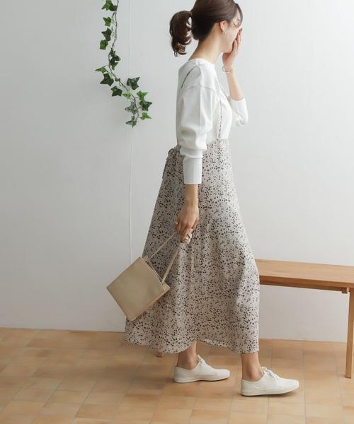 フラワーペイズリーキャミソールスカート