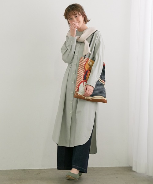 [ROPE' PICNIC] TRUE COTTONシャツワンピース