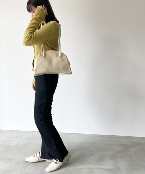 [Auntie Rosa] 【ペットボトル入る◎】レザーボストンハンドバッグ