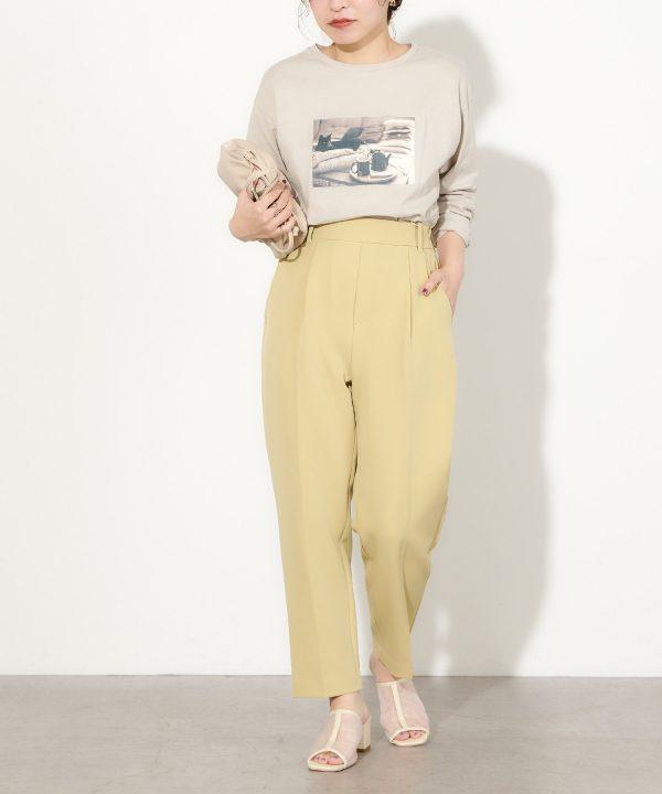 【natural couture】ウォッシャブル美シルエットパンツ