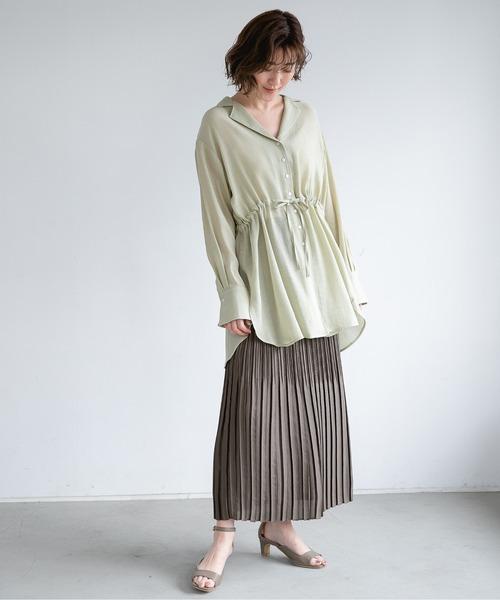 ヘンケイプリーツタイトスカート