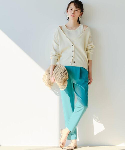 [green label relaxing] [ 洗濯可能 / オルマイ ] ◆SC テーパード パンツ 34-44サイズ
