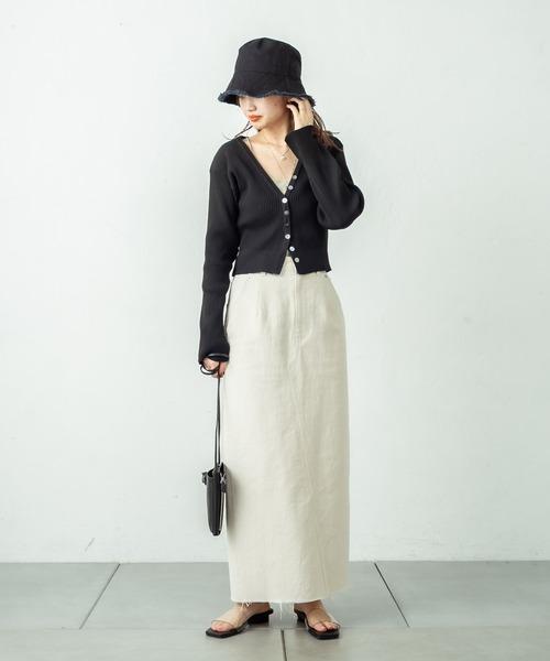 バックフレアタイトスカート