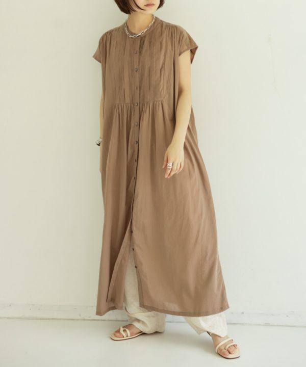【AIC.】ピンタックシャツワンピース