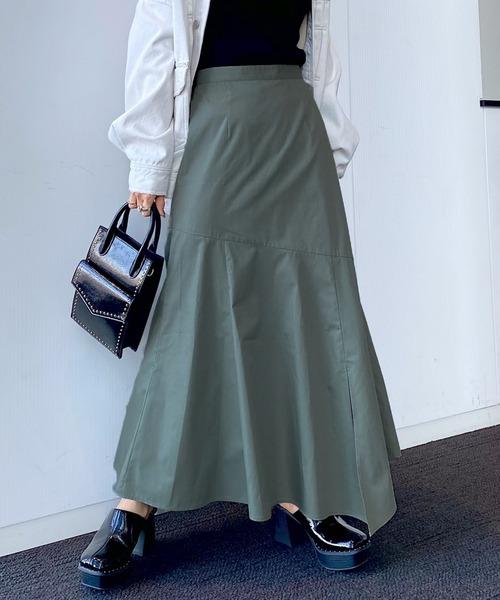 【PAGEBOY】レザーライクコーティングスカート