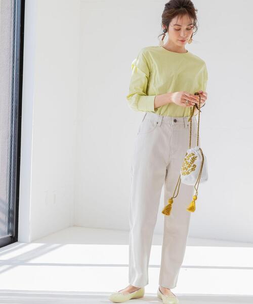 [coen] Market(マーケット)エスニックエンブロイダリ―タッセル巾着バッグ