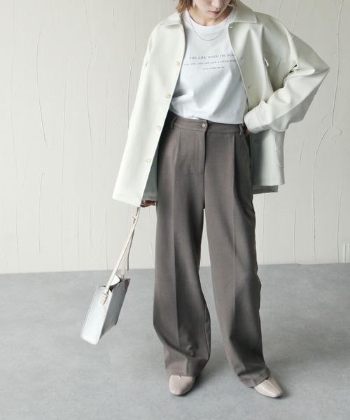 [Chillfar] ロゴプリントオーバーロンT/ビックシルエットロングTシャツ