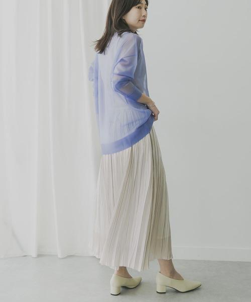 KBF+ ラインプリーツスカート
