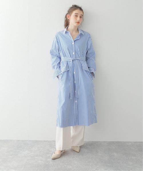 [Spick & Span] 【ALANI THE GREY】ストライプシャツドレス