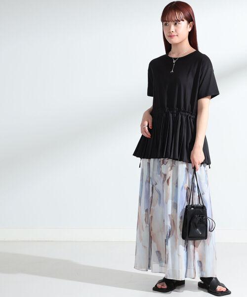 [BEAMS WOMEN] Ray BEAMS / シフォン プリント Aラインスカート