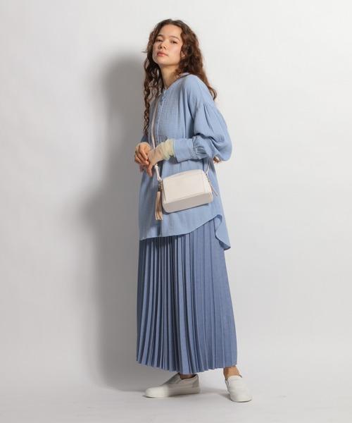ライトメランジプリーツスカート