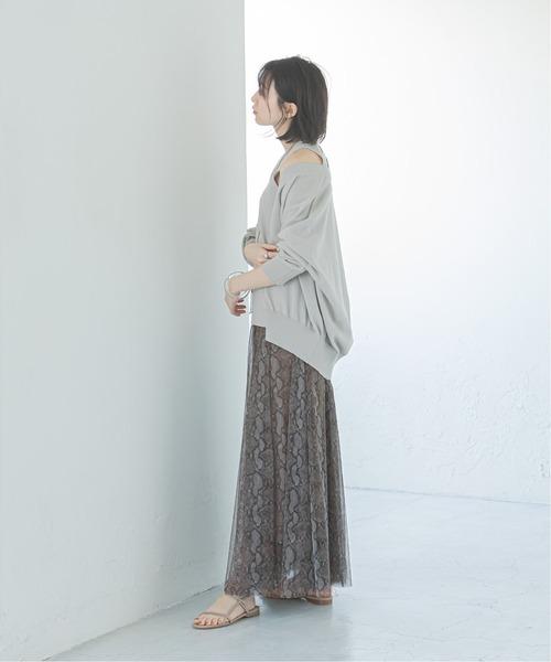 [Spick & Span] アニマル チュールスカート◆