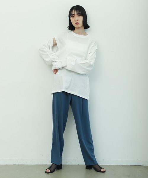 [Auntie Rosa] 【ロンT/フレンチスリーブのマルチデザイン】2WAYスリーブTシャツ