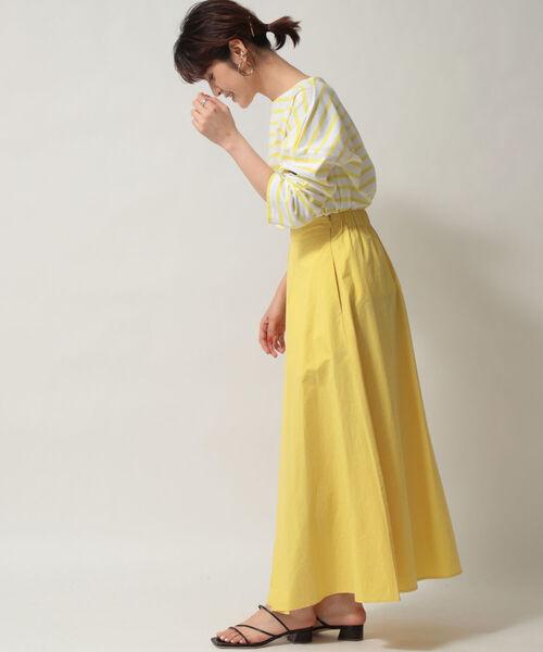 [NOLLEY'S] 【WEB限定カラーあり】前タックロングスカート