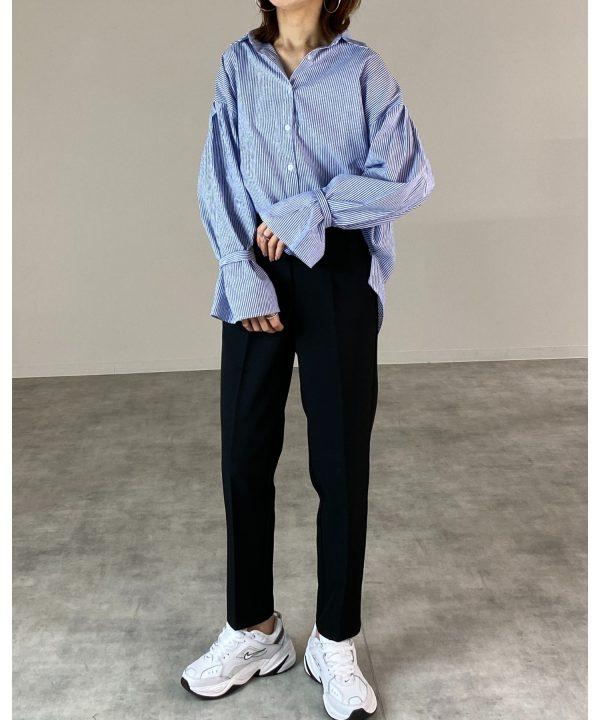 【wears】ボリューム袖ストライプ長袖シャツ