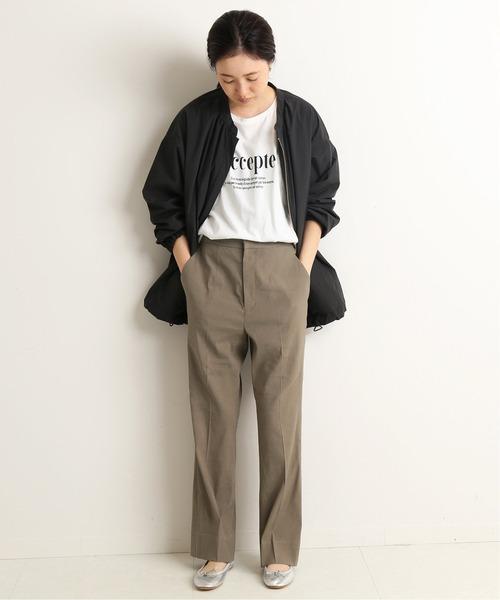 出典:zozo.jp [IENA] 麻ストレッチ ストレートパンツ【手洗い可能】◆
