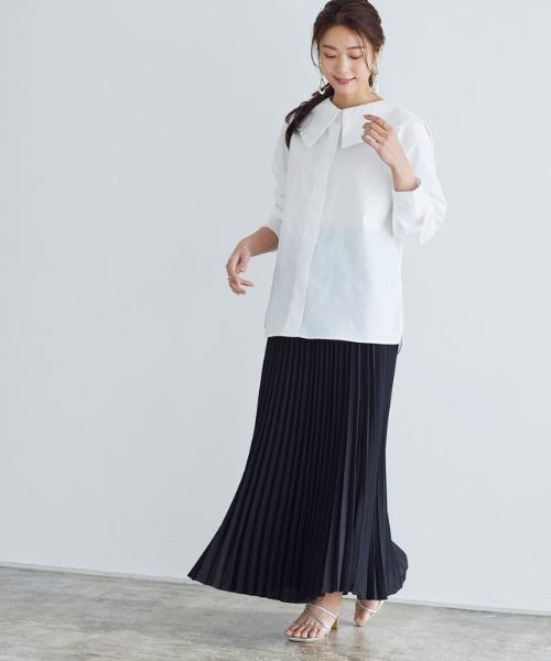 ロング丈フレアプリーツスカート