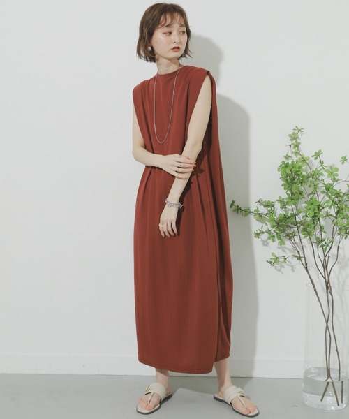 [SENSE OF PLACE by URBAN RESEARCH] バックタックロングワンピース