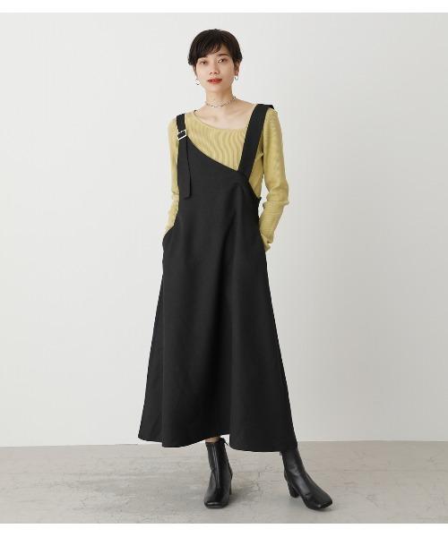 【AZUL BY MOUSSY】アシメトリジャンパースカート