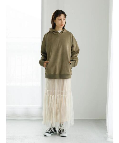 [koe] チュールティアードスカート*5