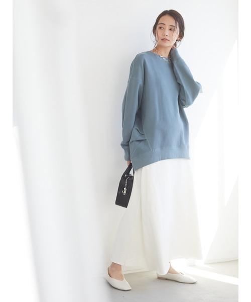 Aラインスウェットスカート