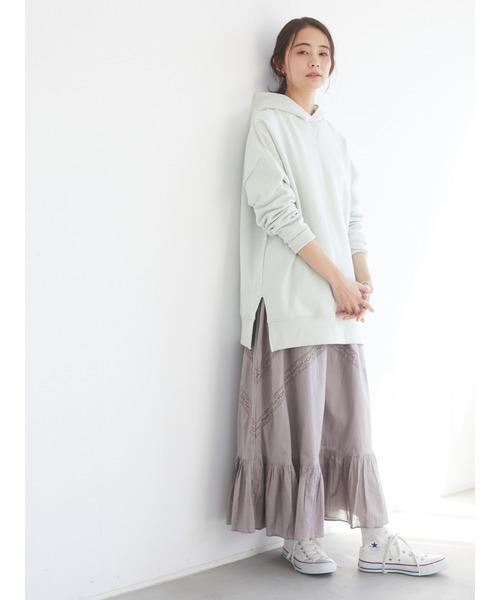 [CRAFT STANDARD BOUTIQUE] レース切り替えティアードスカート *◇ 2