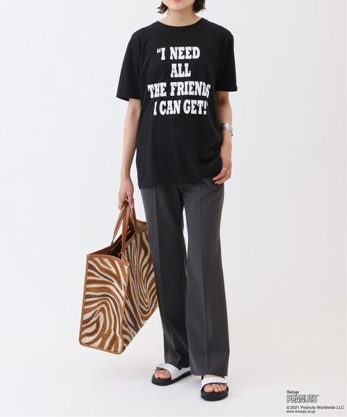 [Spick & Span] 【VOTE MAKE NEW CLOTHES】PEANUTS CHARLIE BROWN T-SH&PINS◆