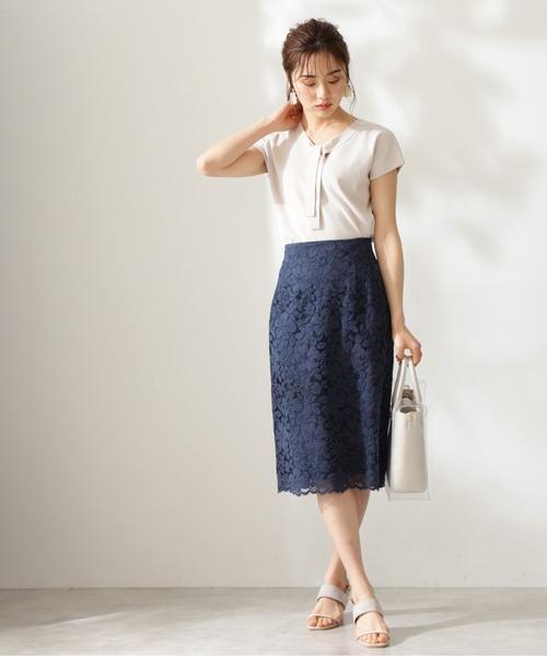 [PROPORTION BODY DRESSING] フラワーレースタイトスカート / 1211120412