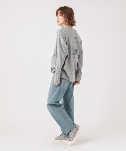 [RIVE DROITE] バックフォトロングTシャツ