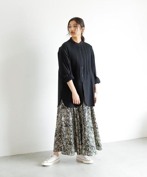 [Auntie Rosa] ゼブラ柄ティアードスカート