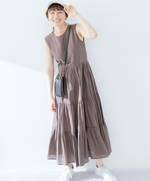 [URBAN RESEARCH Sonny Label] 【WEB限定】ティアードピコワンピース