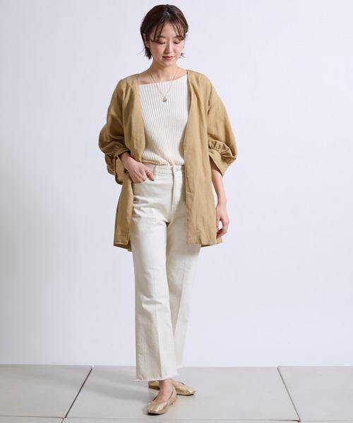 [DouDou] 【WEB限定】8分袖イージーカフスシャツジャケット