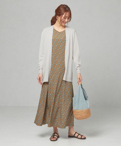 [green label relaxing] 【予約】<closet story>□セッショクレイカン キナガシ カーディガン -手洗い可能-