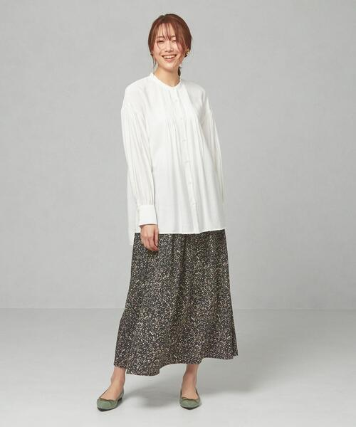 [green label relaxing] <closet story>□CSC ダルメペイント マキシスカート -手洗い可能-