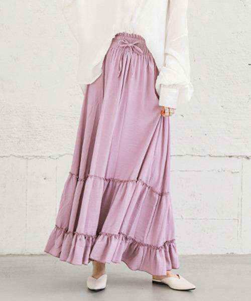 【SUGAR BISKET】ティアードギャザースカート