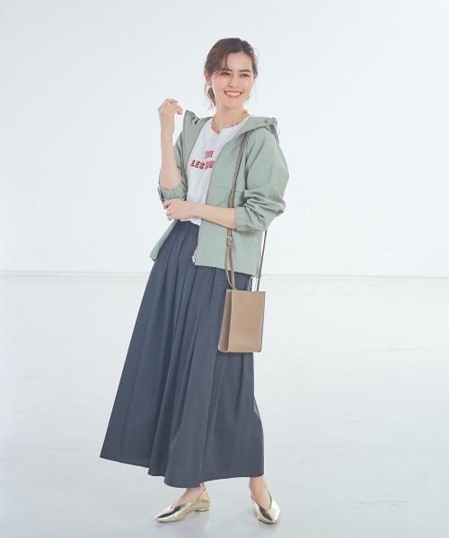 [Abahouse Devinette] 【ベージュ、ブラックWEB限定カラー】タックギャザースカート