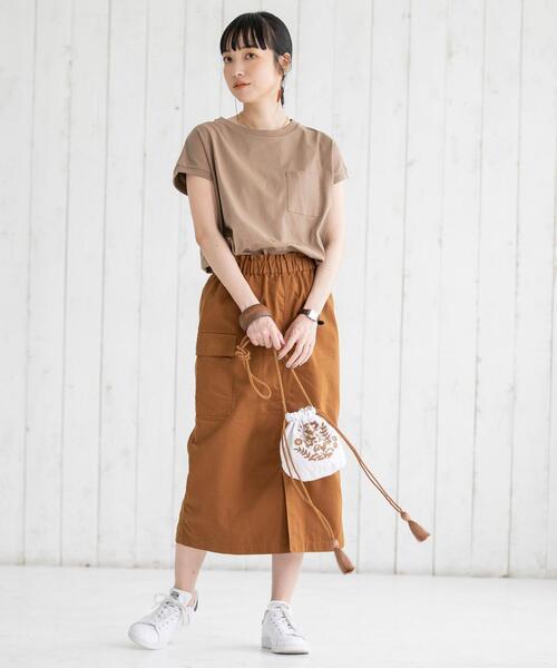 [coen] ツイルタイトミリタリースカート