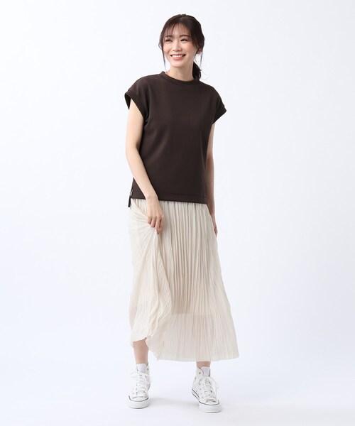 [UNTITLED] 【洗える】シアープリーツスカート