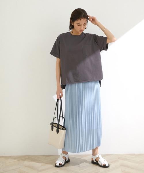 [ROPE'] 【洗える】Iラインマーメイドプリーツスカート