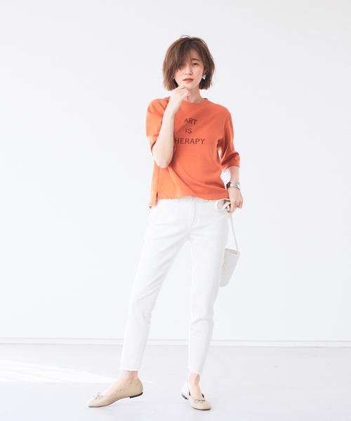 [Abahouse Devinette] 【新色登場!】【BRAHMIN】ダンボールロゴTシャツ