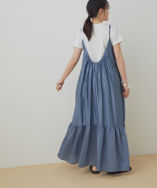 [ADAM ET ROPE'] 【missing you already】WRINKLE STRAP DRESS