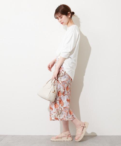 [natural couture] 水彩アートフラワースカート