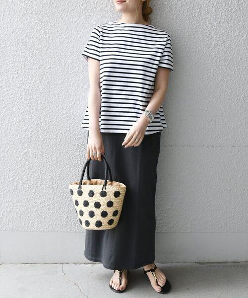 [SHIPS for women] ORCIVAL: フレア ストライプ Tシャツ◇