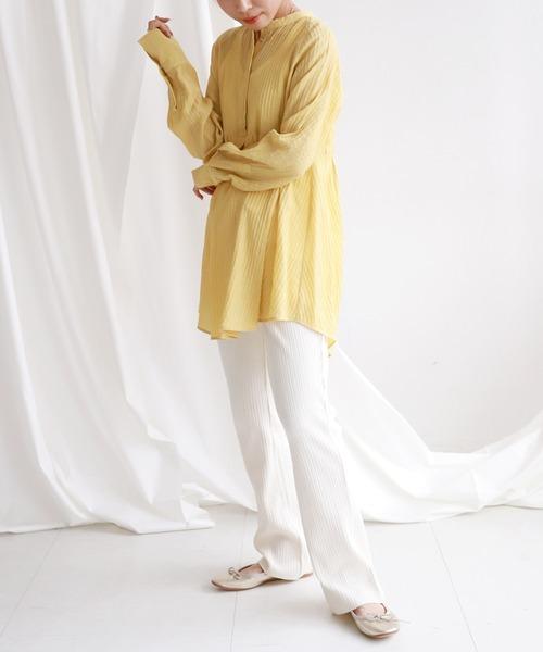 [IENA] SLOBE citron.デザインチュニックブラウス【手洗い可能】◆6