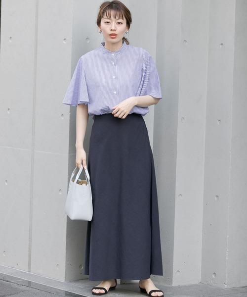 【WEB限定】バイアスリネンマキシスカート