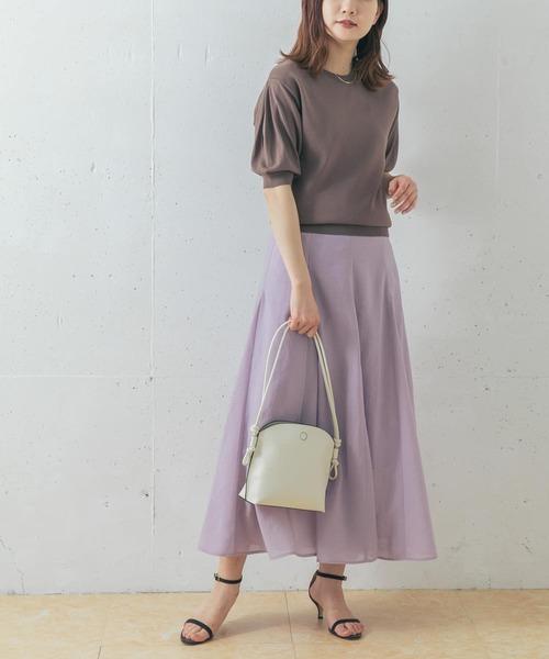 [URBAN RESEARCH ROSSO WOMEN] 【WEB限定】シアーパネルサーキュラーロングスカート