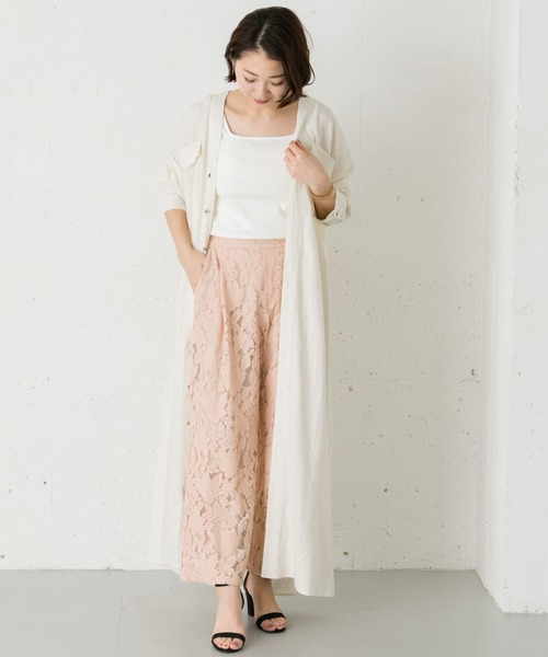 [URBAN RESEARCH OUTLET] レースタックパンツ∴