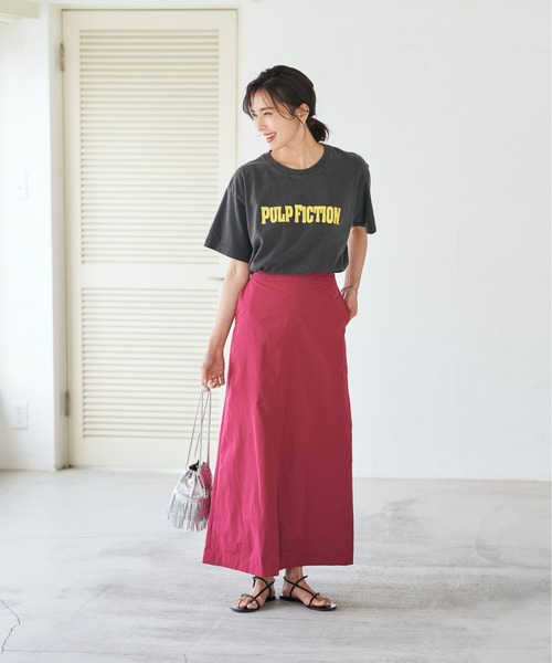 [RIVE DROITE] メモリータフタマキシスカート