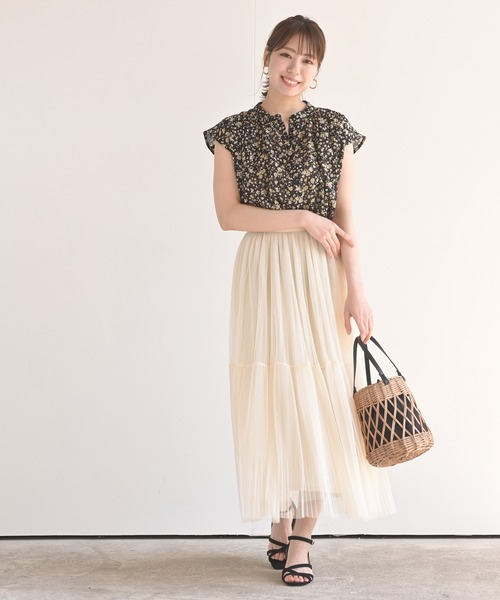 [rps] チュールプリーツ2段スカート①