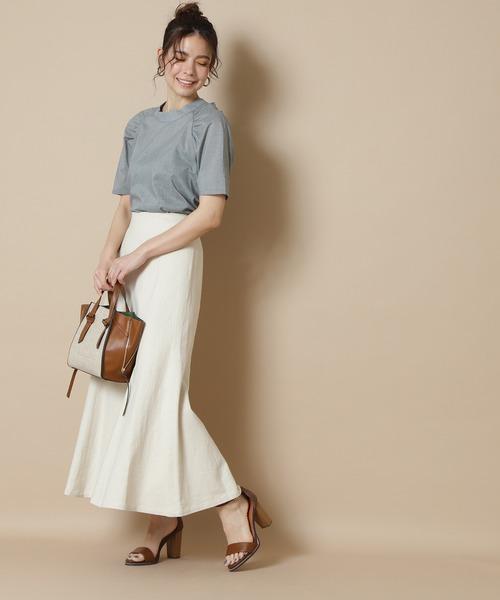 【S Size Line】◆麻混マキシマーメイドスカート
